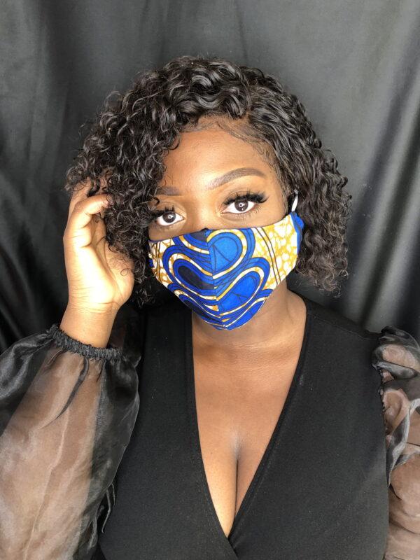 Reversible Face Mask (Blue Swril)