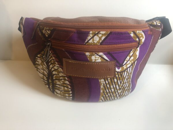 African Bumbag (Purple/Brown)