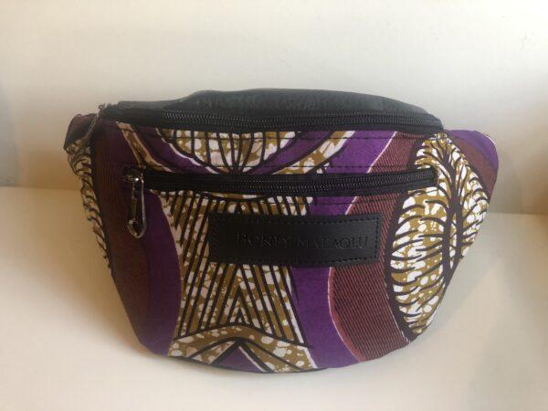 African Bumbag (Purple/Black)