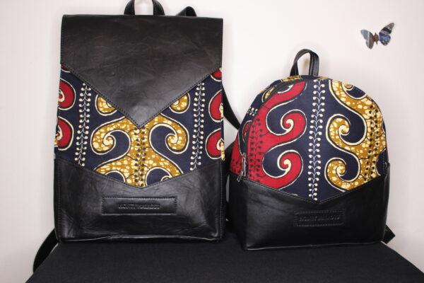Large Ankara Bag (Red/Blue)