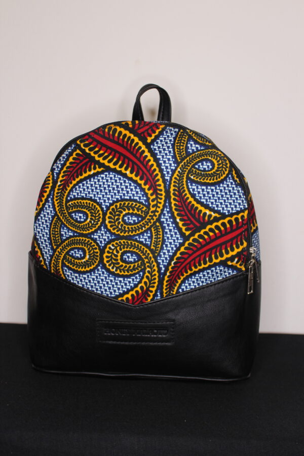 Small Ankara Bag (Red Swirl)