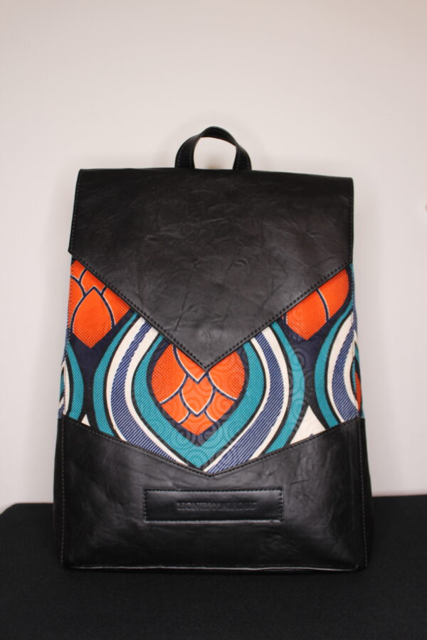 Large Ankara Bag (Orange Flower)