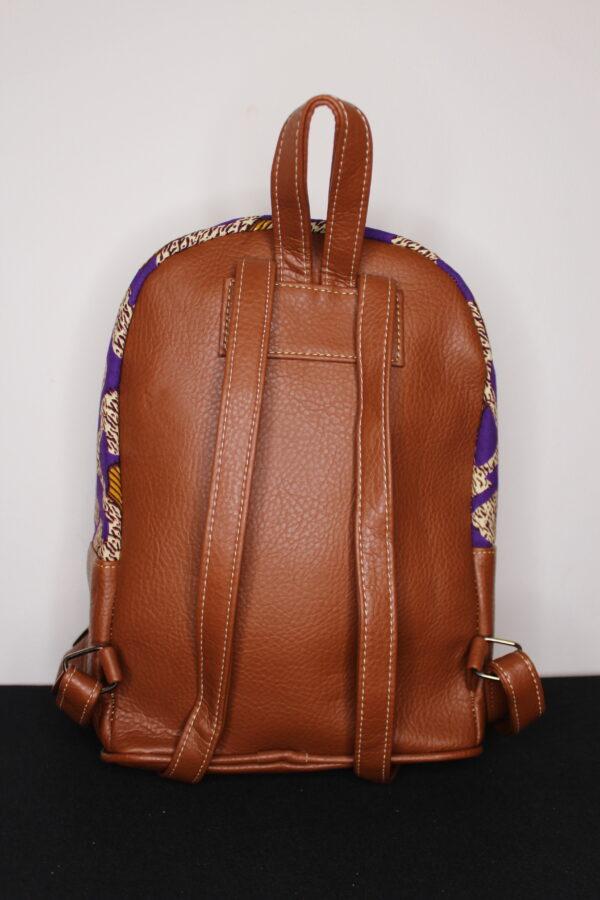 Small Ankara Bag (Brown)