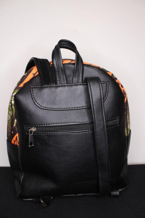 Small Ankara Bag (Peach/Green)