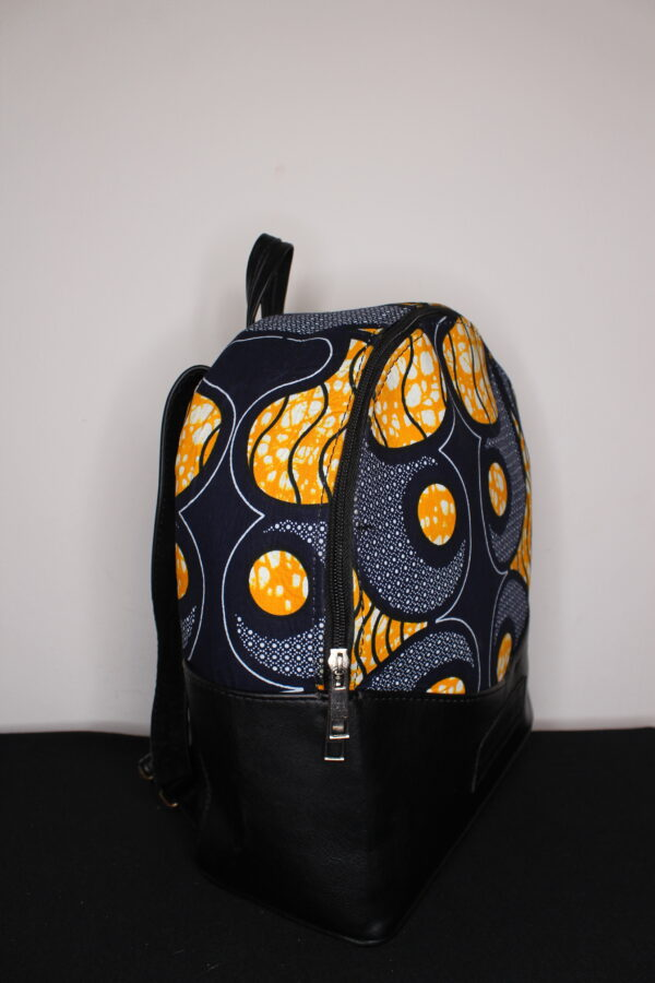 Small Ankara Bag (Yellow/Blue)