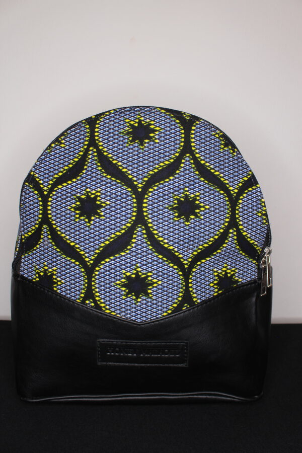 Small Ankara Bag (Black Star)
