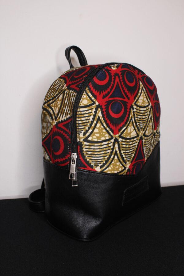 Small Ankara Bag (Red/Brown)