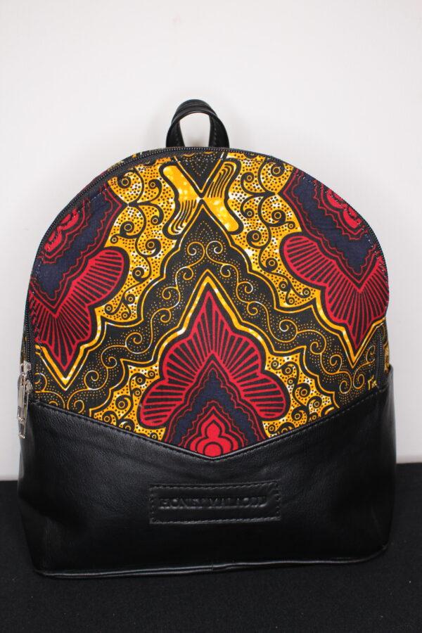 Small Ankara Bag (Orange/Red)