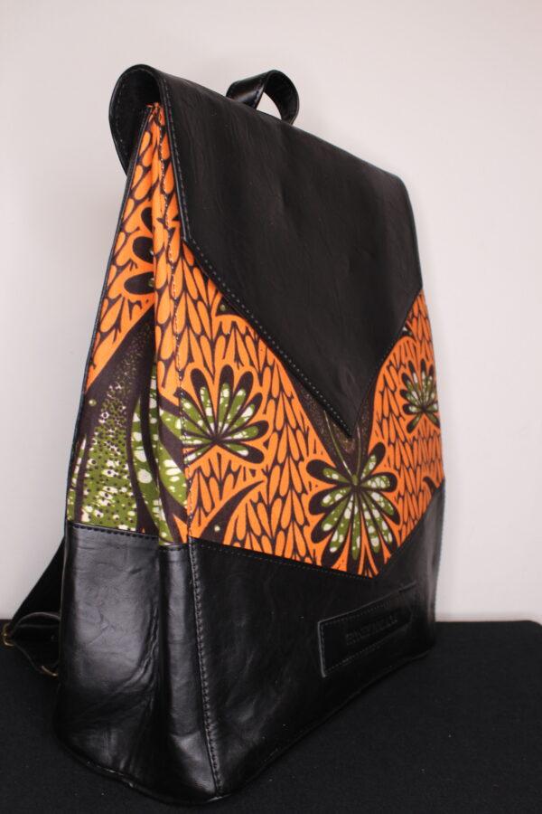 Large Ankara Bag (Peach/Green)