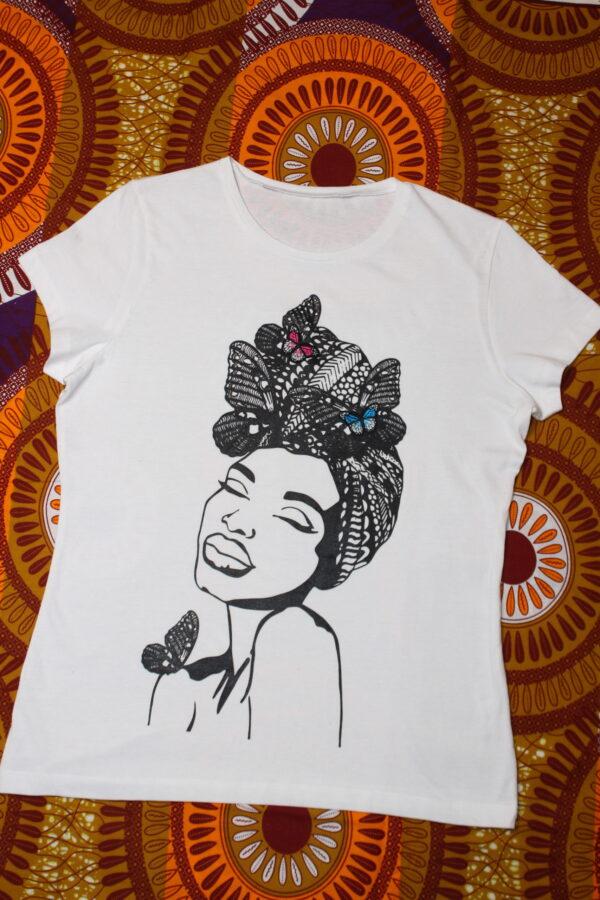 T-Shirt Butterfly Embodery