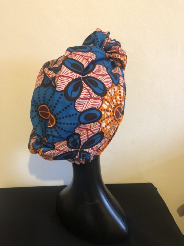 Ready made Turban Pink/Blue