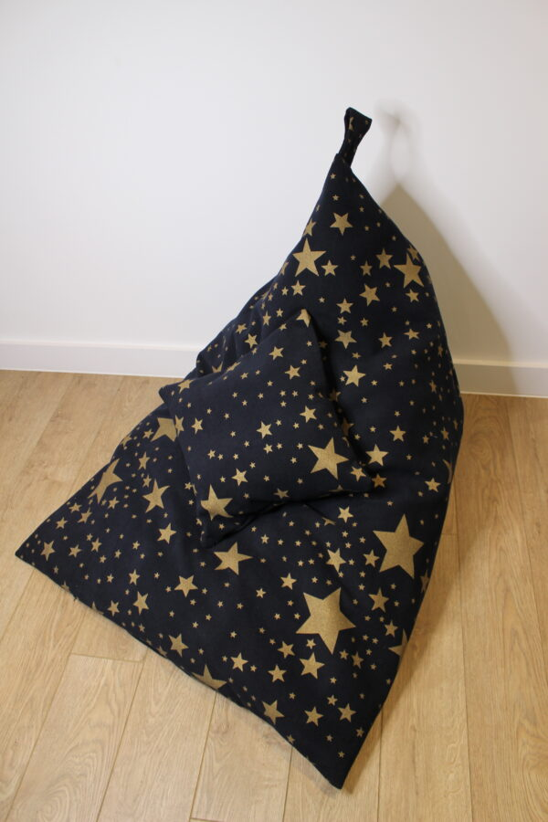 Large Bean Bag Cover GOLD STAR